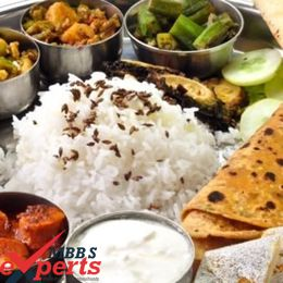 european university indian food