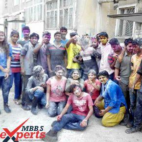 Osh State Medical University Holi Celebration - MBBSExperts